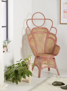 pantone living coral chair